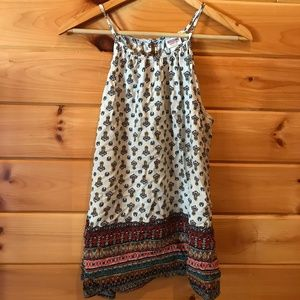 Boho Tank with Keyhole Tie Back